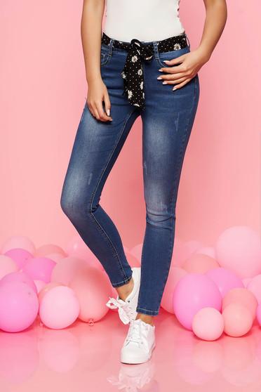 Kék Top Secret casual nadrág öv típusú kiegészítővel