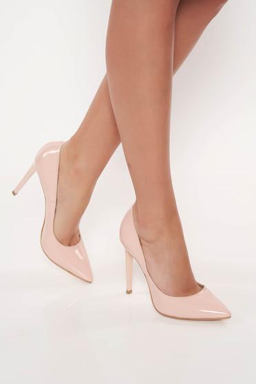 Rózsaszínű elegáns stiletto cipő magassarkú