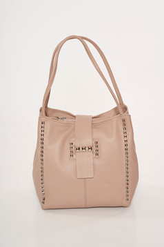 Rózsaszínű casual irodai bőr táska