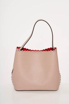 Rózsaszínű irodai bőr táska