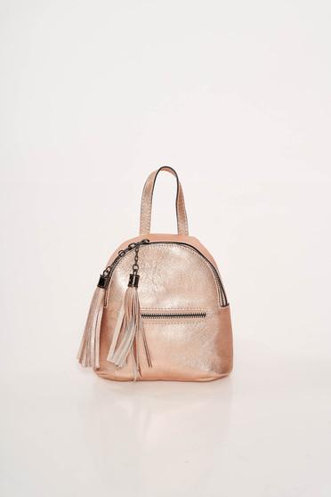 Rózsaszínű casual bőr táska