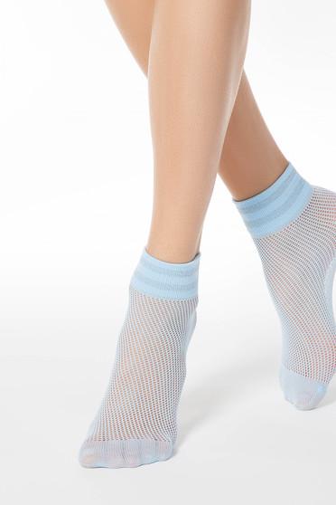 Világoskék harisnyák & zoknik háló típus rugalmas anyag