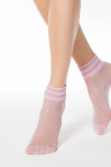 Világos rózsaszín harisnyák & zoknik háló típus rugalmas anyag