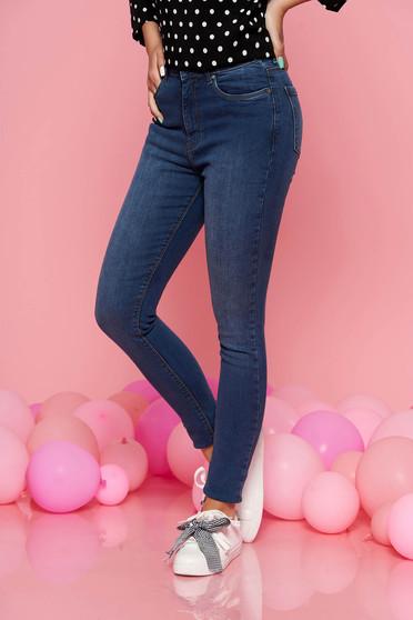 Kék Top Secret casual skinny farmer enyhén elasztikus pamut