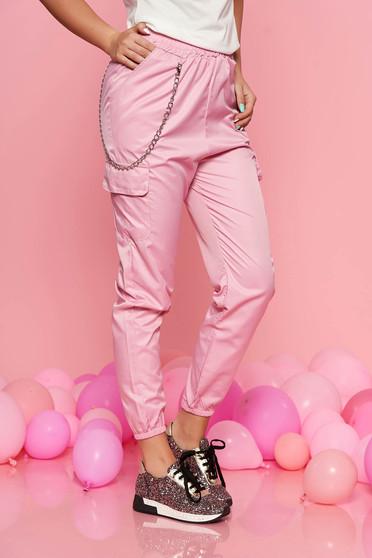 Pink SunShine casual nadrág derékban rugalmas eltávolítható vékony lánc