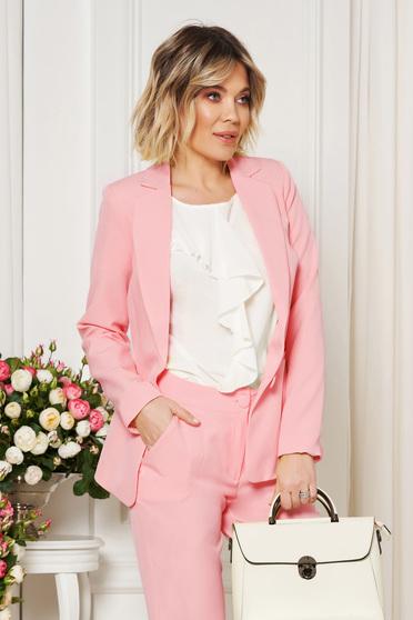 Pink Artista irodai blézer belső béléssel rugalmatlan szövet karcsusított szabás