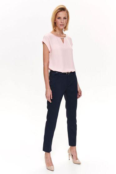 Rózsaszínű Top Secret elegáns bő szabású női blúz enyhén áttetsző anyag