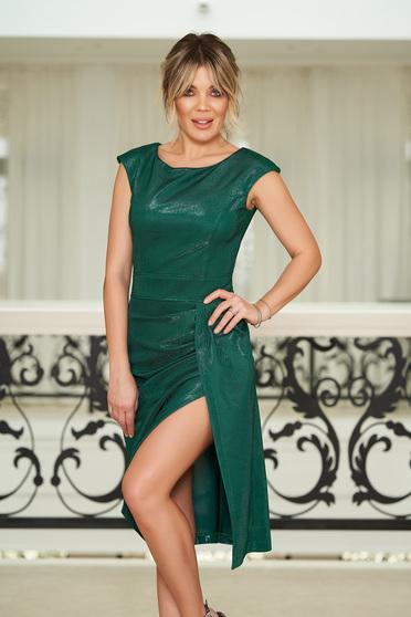 Zöld StarShinerS alkalmi ruha szűk szabás belső béléssel