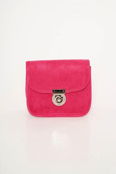 Pink Top Secret táska bársonyos anyag hosszú lánc típusú pánttal