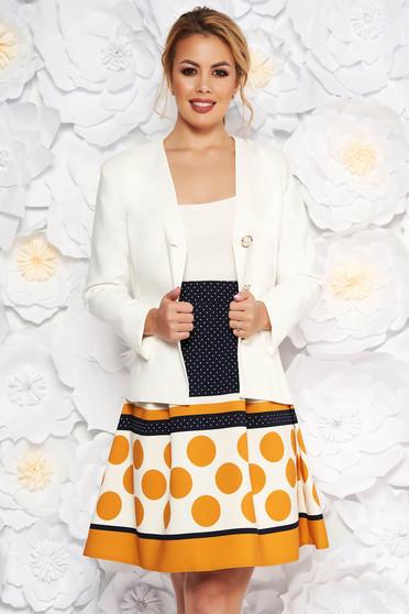 Mustar LaDonna két részes női kosztüm karcsusított szabású blézer deréktól bővülő szabású szoknya