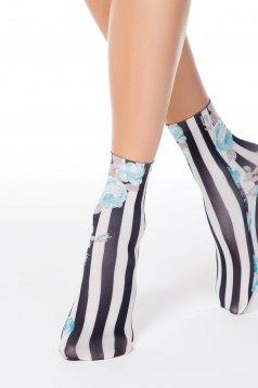 Türkiz harisnyák & zoknik finom tapintású anyag nyomtatott mintával