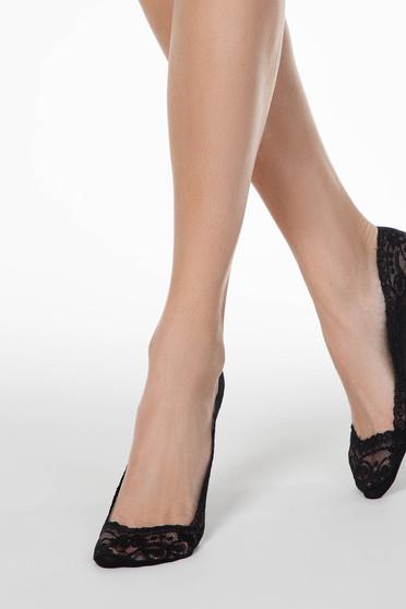Fekete harisnyák & zoknik csipkés anyag rugalmas pamut