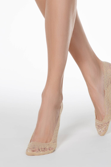 Bézs zoknik csipkés anyag rugalmas pamut
