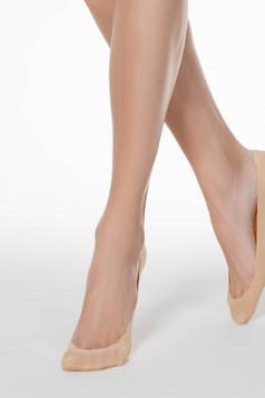 Bézs zoknik rugalmas pamut