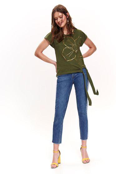 Zöld Top Secret casual póló nem elasztikus pamut bő szabású
