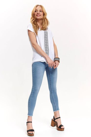 Fehér Top Secret casual bő szabású póló vékony anyag