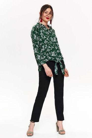 9b5f6ff06b Fehér Top Secret bő szabás női ing hosszú ujjakkal virágmintás vékony anyag