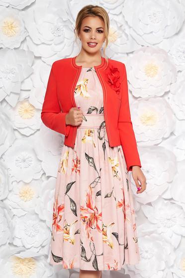 Korall LaDonna két részes elegáns női kosztüm virágmintás