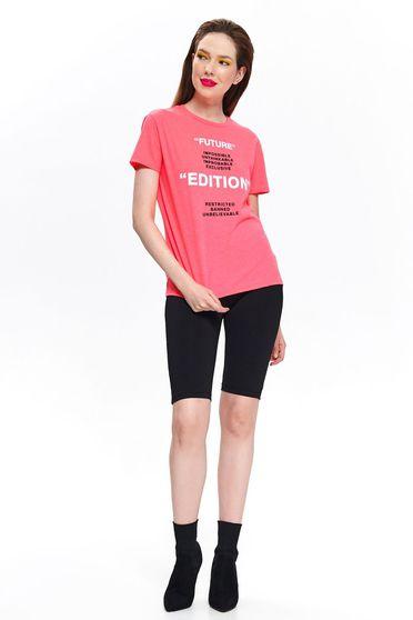 Pink Top Secret casual bő szabású póló nem elasztikus pamut rövid ujjakkal
