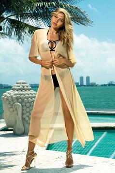Krém hosszú strandi ruha áttetsző anyag zsinórral van ellátva