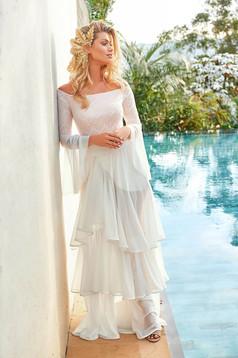 Fehér szoknya luxus strandi