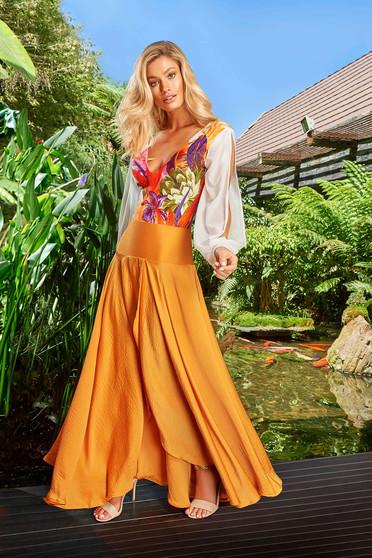 Narancs Cosita Linda strandi asszimmetrikus szabással harang szoknya magas derekú