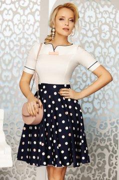 Rózsaszínű Fofy elegáns női ing szűk szabás enyhén elasztikus pamut masni díszítéssel