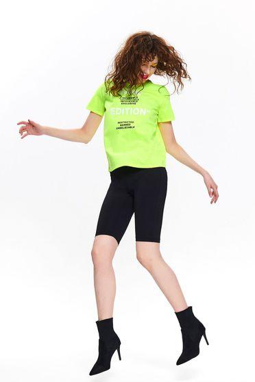 Zöld Top Secret casual bő szabású póló vékony anyag rövid ujjakkal