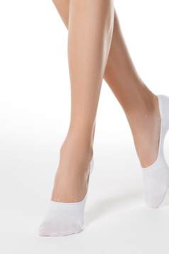 Fehér zoknik rugalmas pamut