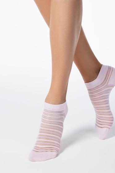 Rózsaszin zokni rugalmas pamut lekerekitett sarokkal