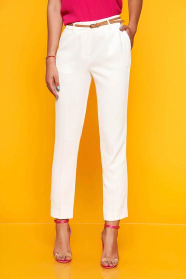 Fehér Top Secret elegáns kónikus nadrág vékony anyagból