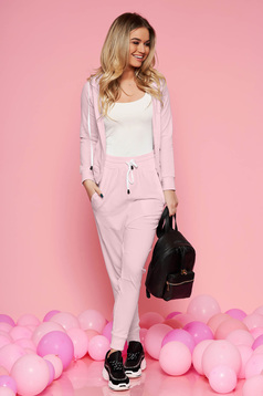 Világos rózsaszín SunShine casual két részes szett enyhén elasztikus pamut