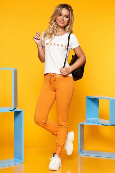 Mustar SunShine casual két részes női kosztüm nadrággal rugalmas pamutból