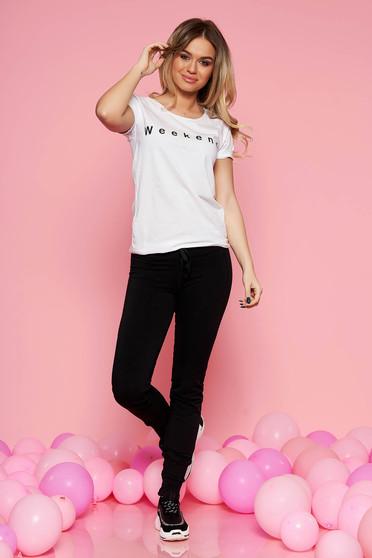 Fekete SunShine casual két részes női kosztüm nadrággal rugalmas pamut