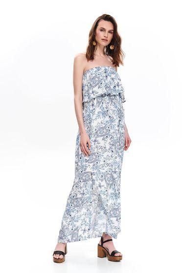 Fehér ruha casual grafikai díszítéssel