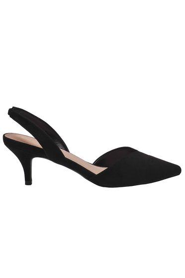 Fekete Top Secret cipő enyhén hegyes orral