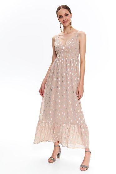 472c3bb40d Rózsaszínű Top Secret hétköznapi hosszú harang ruha áttetsző anyag belső  béléssel