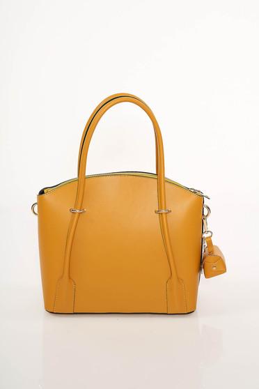 Mustar irodai táska hosszú, állítható pánttal