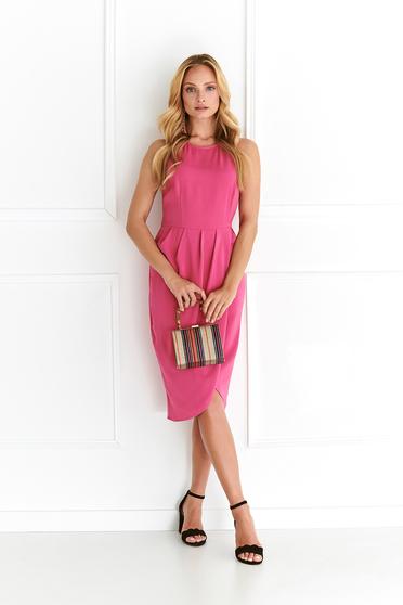 Pink Top Secret irodai midi ruha karcsusított szabás vékony anyag