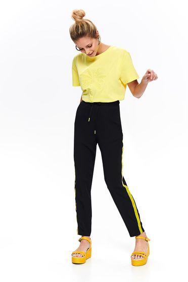 Fekete Top Secret casual nadrág elasztikus csípővel egyenes szabás