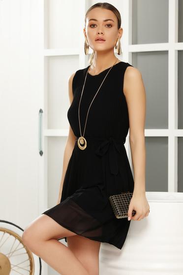 Fekete hétköznapi harang ruha fátyol anyag belső béléssel
