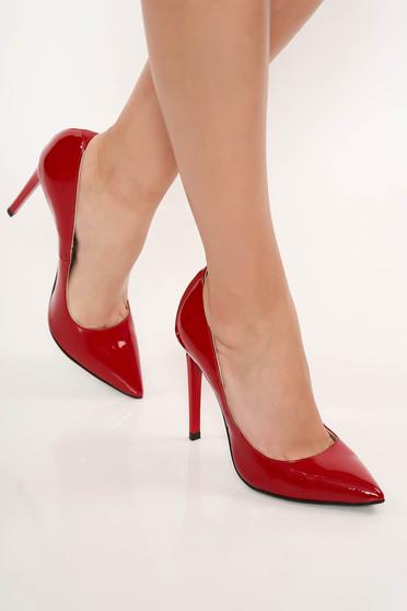 Piros elegáns stiletto magassarkú cipő