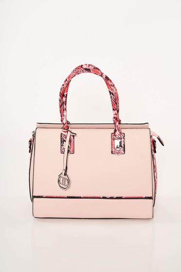Rózsaszínű elegáns műbőr táska