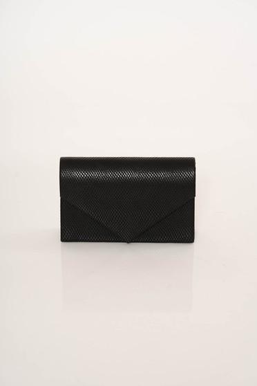 Fekete elegáns táska hosszú, lánc jellegű akasztóval