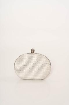 Ivory alkalmi táska hosszú, lánc jellegű akasztóval elegáns csillogó díszítések csillogó szál