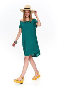 Zöld hétköznapi casual bő szabású ruha