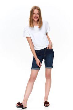 Kék casual rövidnadrág farmerarnyagból