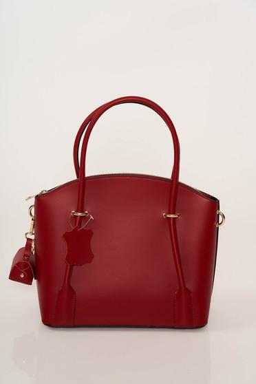 Burgundy irodai táska két rekesszel és belső zsebekkel ellátott