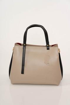 Krém táska elegáns műbőr vékony pántokkal