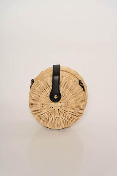 Krém casual táska hosszú, állítható pánttal